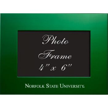 Norfolk State University - 4x6 Brushed Metal Picture Frame - Green