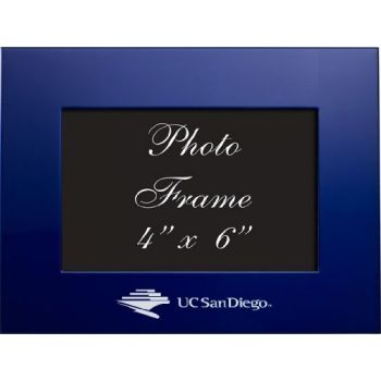 University of California - San Diego - 4x6 Brushed Metal Picture Frame - Blue