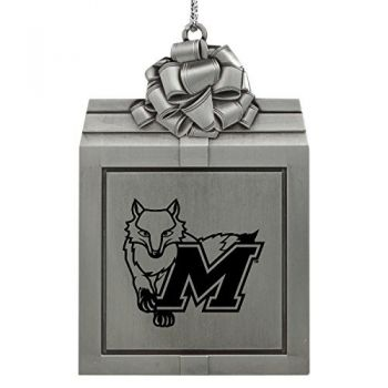 Marist College-Pewter Christmas Holiday Present Ornament-Silver