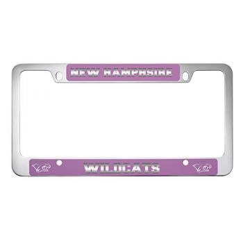 University of New Hampshire -Metal License Plate Frame-Pink