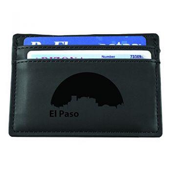 Slim Wallet with Money Clip - El Paso City Skyline