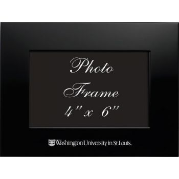 Washington University in St. Louis - 4x6 Brushed Metal Picture Frame - Black