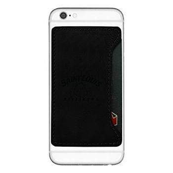Saint Louis University-Cell Phone Card Holder-Black