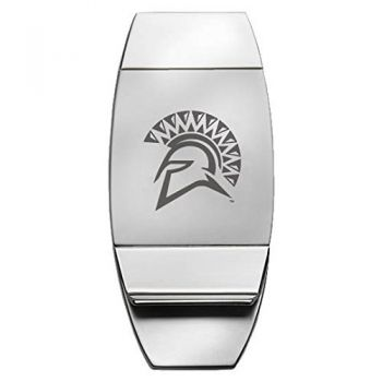 San Jose State University - Two-Toned Money Clip - Silver