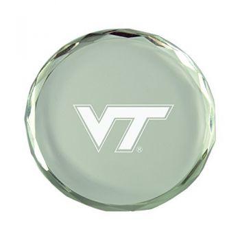 Virginia Tech-Crystal Paper Weight