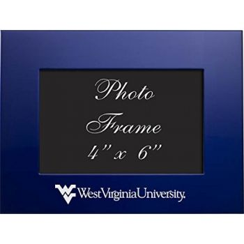 West Virginia University - 4x6 Brushed Metal Picture Frame - Blue