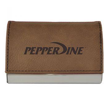 Velour Business Cardholder-Pepperdine university-Brown