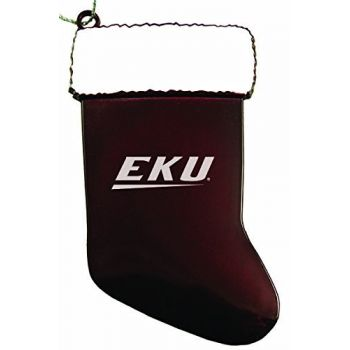 Eastern Kentucky University - Christmas Holiday Stocking Ornament - Burgundy