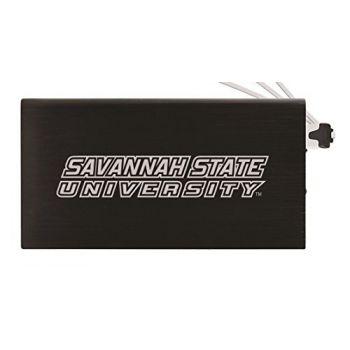 8000 mAh Portable Cell Phone Charger-Savannah State University -Black