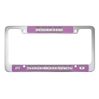 Baylor University -Metal License Plate Frame-Pink