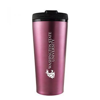 Washington State University -16 oz. Travel Mug Tumbler-Pink