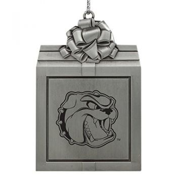 University of North Carolina at Asheville-Pewter Christmas Holiday Present Ornament-Silver
