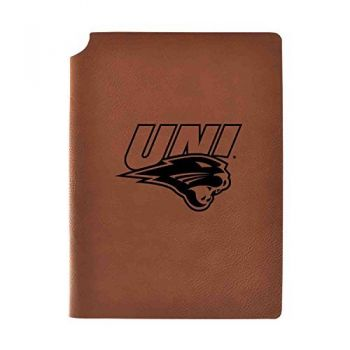 University of Northern Iowa Velour Journal with Pen Holder|Carbon Etched|Officially Licensed Collegiate Journal|