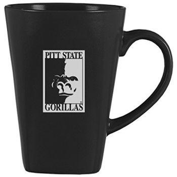 Pittsburg State University -14 oz. Ceramic Coffee Mug-Black
