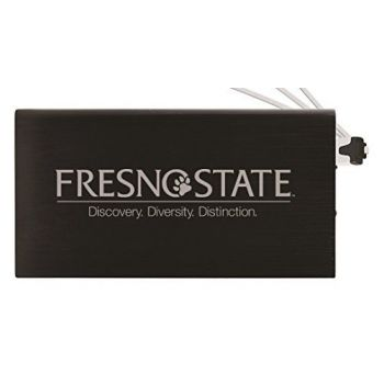 8000 mAh Portable Cell Phone Charger-Fresno State -Black