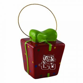 Tennessee State University-3D Ceramic Gift Box Ornament