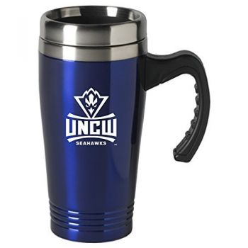 University of North Carolina Wilmington-16 oz. Stainless Steel Mug-Blue