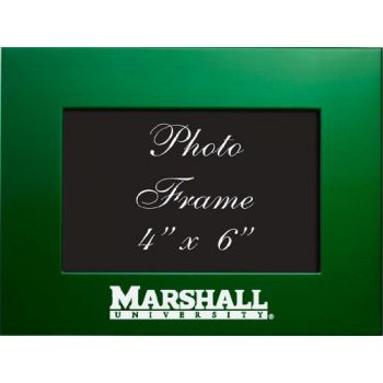 Marshall University - 4x6 Brushed Metal Picture Frame - Green