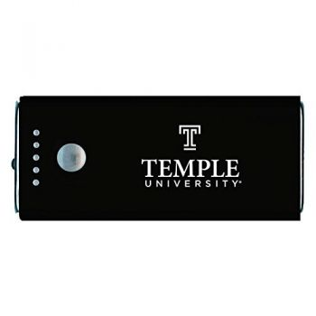 Temple University -Portable Cell Phone 5200 mAh Power Bank Charger -Black