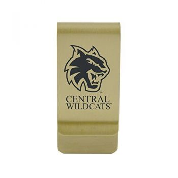 Colorado State University, Pueblo|Money Clip with Contemporary Metals Finish|Solid Brass|High Tension Clip to Securely Hold Cash, Cards and ID's|Silver