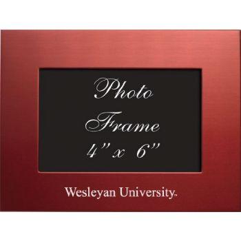 Wesleyan University - 4x6 Brushed Metal Picture Frame - Red