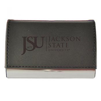 Velour Business Cardholder-Jackson State University-Black