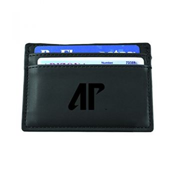 Austin Peay State University-European Money Clip Wallet-Black