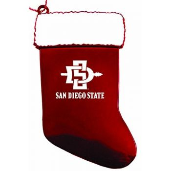 San Diego State University - Chirstmas Holiday Stocking Ornament - Red