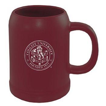 Colgate University -22 oz. Ceramic Stein Coffee Mug-Burgundy