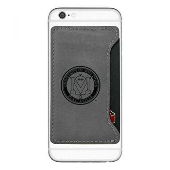 University of Wisconsin-Platteville-Cell Phone Card Holder-Grey
