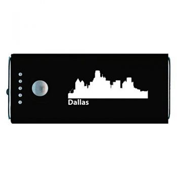 Dallas, Texas-Portable Cell Phone 5200 mAh Power Bank Charger-Black