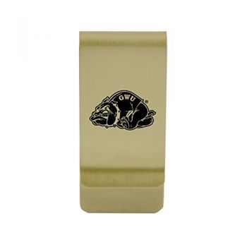 Fresno State|Money Clip with Contemporary Metals Finish|Solid Brass|High Tension Clip to Securely Hold Cash, Cards and ID's|Silver