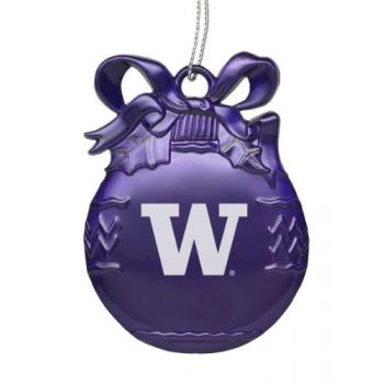 University of Washington - Pewter Christmas Tree Ornament - Purple