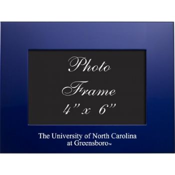 University of North Carolina at Greensboro - 4x6 Brushed Metal Picture Frame - Blue