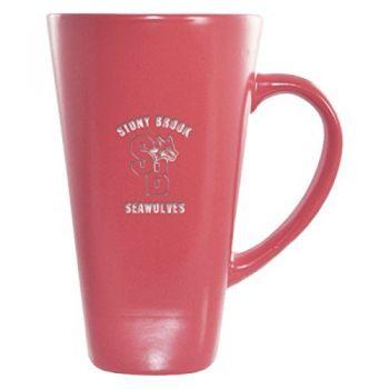 Stony Brook University -16 oz. Tall Ceramic Coffee Mug-Pink