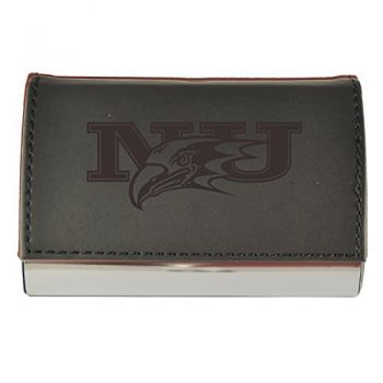 Velour Business Cardholder-Niagara University-Black