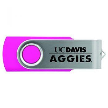 University of California, Davis -8GB 2.0 USB Flash Drive-Pink