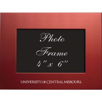 University of Central Missouri - 4x6 Brushed Metal Picture Frame - Red