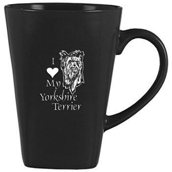 14 oz Square Ceramic Coffee Mug  - I Love My Yorkie