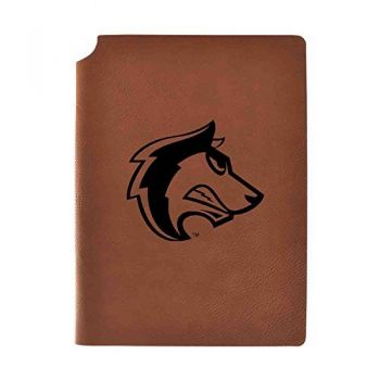 Colorado State University, Pueblo Velour Journal with Pen Holder|Carbon Etched|Officially Licensed Collegiate Journal|