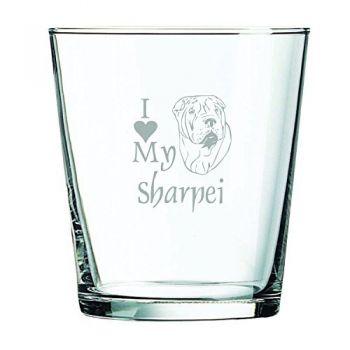 13 oz Cocktail Glass  - I Love My Sharpei