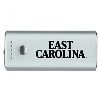 East Carolina University-Portable Cell Phone 5200 mAh Power Bank Charger -Silver