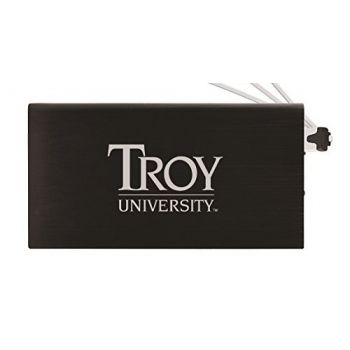 8000 mAh Portable Cell Phone Charger-Troy University-Black