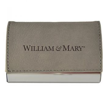 Velour Business Cardholder-College of William & Mary-Grey