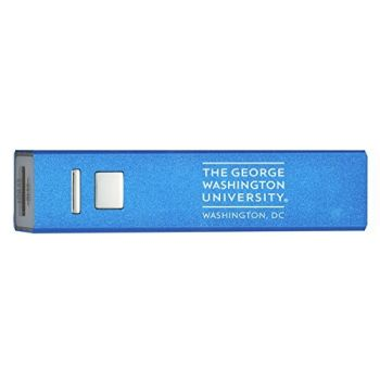 George Washington University - Portable Cell Phone 2600 mAh Power Bank Charger - Blue