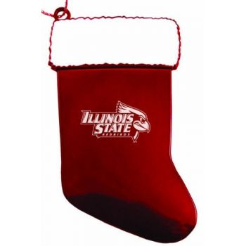Illinois State University - Christmas Holiday Stocking Ornament - Red