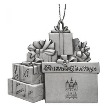 Seton Hall University - Pewter Gift Package Ornament