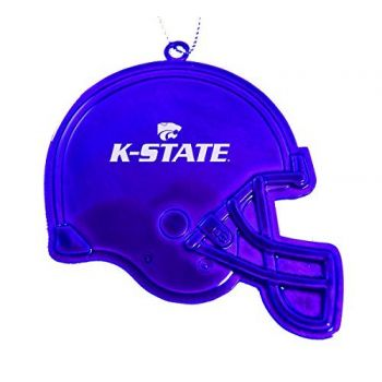 Kansas State University - Christmas Holiday Football Helmet Ornament - Purple