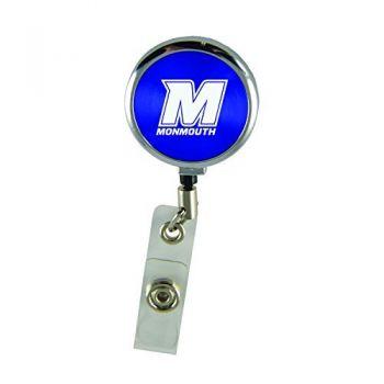 Monmouth University-Retractable Badge Reel-Blue