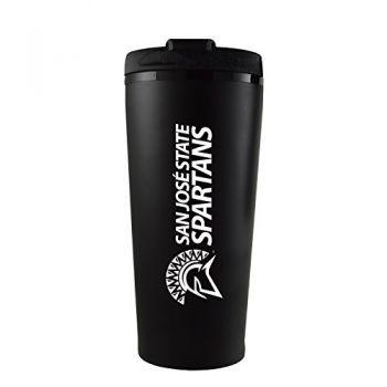 San Jose State University -16 oz. Travel Mug Tumbler-Black